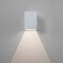 Astro Oslo 100 Textured White Outdoor LED Wall Light