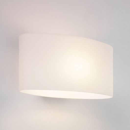 Astro Tokyo Polished Chrome and White Glass Wall Light at UK Electrical Supplies.
