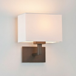 Astro Connaught Bronze Wall Light with White Shade