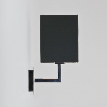 Astro Connaught Polished Chrome Wall Light with Black Shade