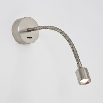 Astro Fosso Switched Matt Nickel LED Wall Light