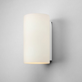 Astro Cyl 260 White Glass Wall Light