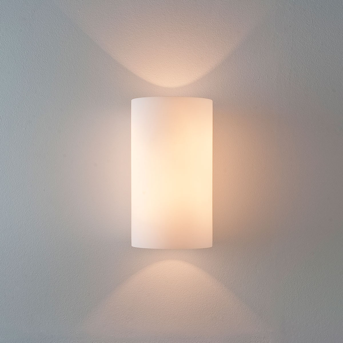 Luxury Glass Wall Lights : Astro Cyl 260 White Glass Wall Light at UK Electrical Supplies.