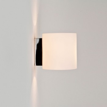 Astro Tokyo Classic Polished Chrome and White Glass Wall Light