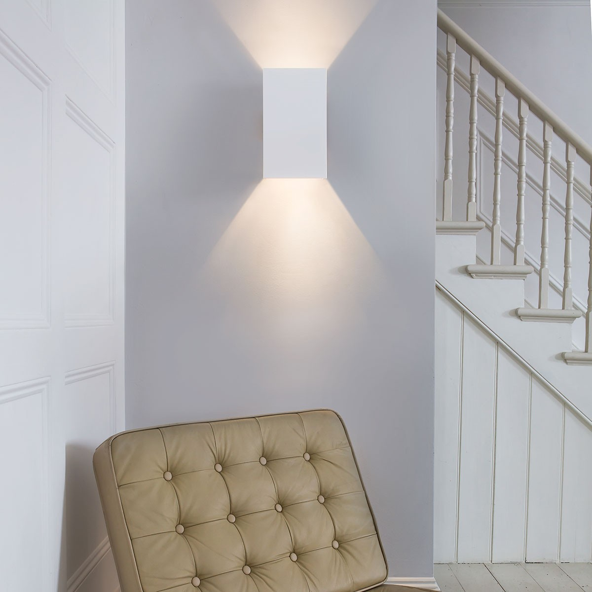Plaster Cast Wall Lights : Astro Pella 190 Plaster Wall Light at UK Electrical Supplies.