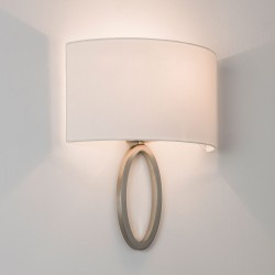 Astro Lima Matt Nickel Wall Light