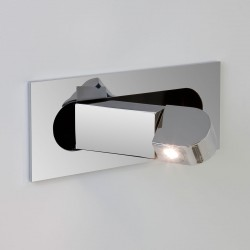 Astro Digit Polished Chrome LED Wall Light