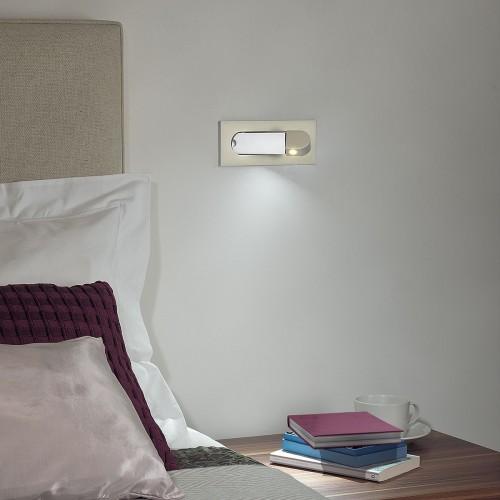 Astro Digit Polished Chrome LED Wall Light