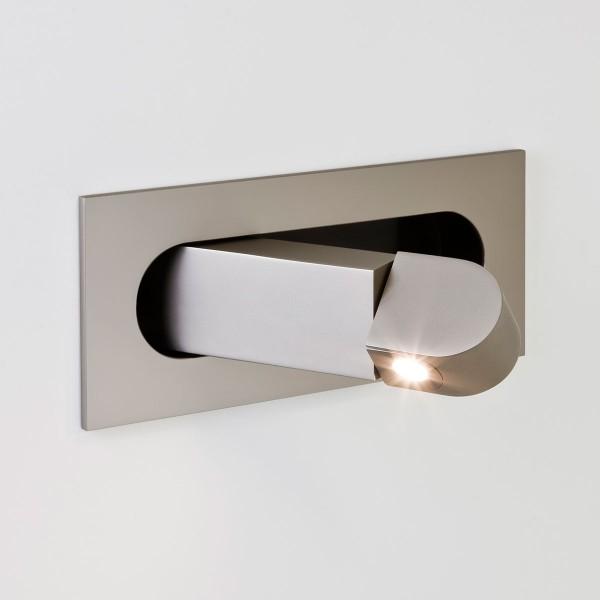 Astro Digit Matt Nickel LED Wall Light