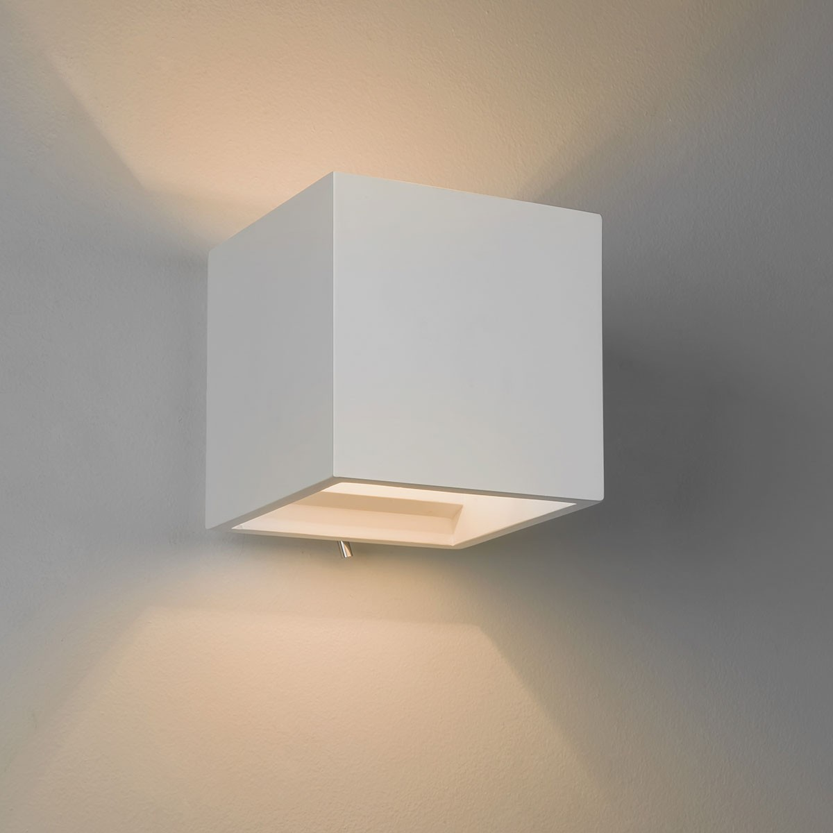 astro pienza 140 switched plaster wall light at uk. Black Bedroom Furniture Sets. Home Design Ideas