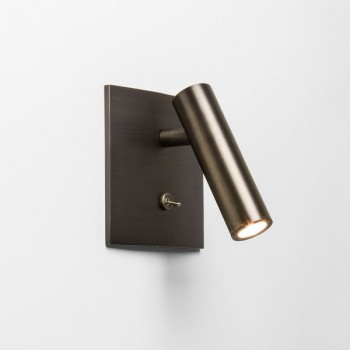 Astro Enna Square Switched Bronze LED Wall Light
