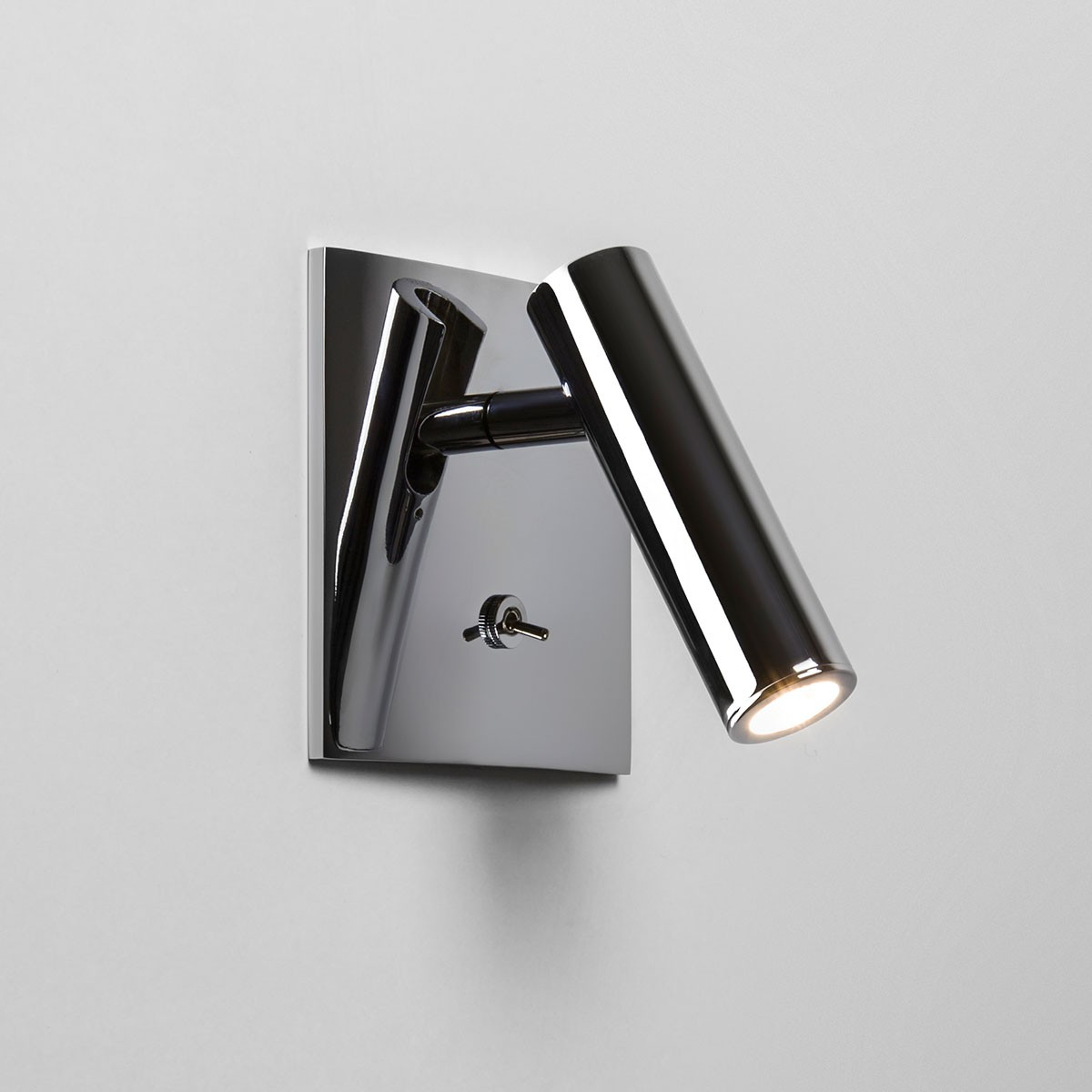 Astro Enna Square Switched Polished Chrome LED Wall Light at UK Electrical Supplies.