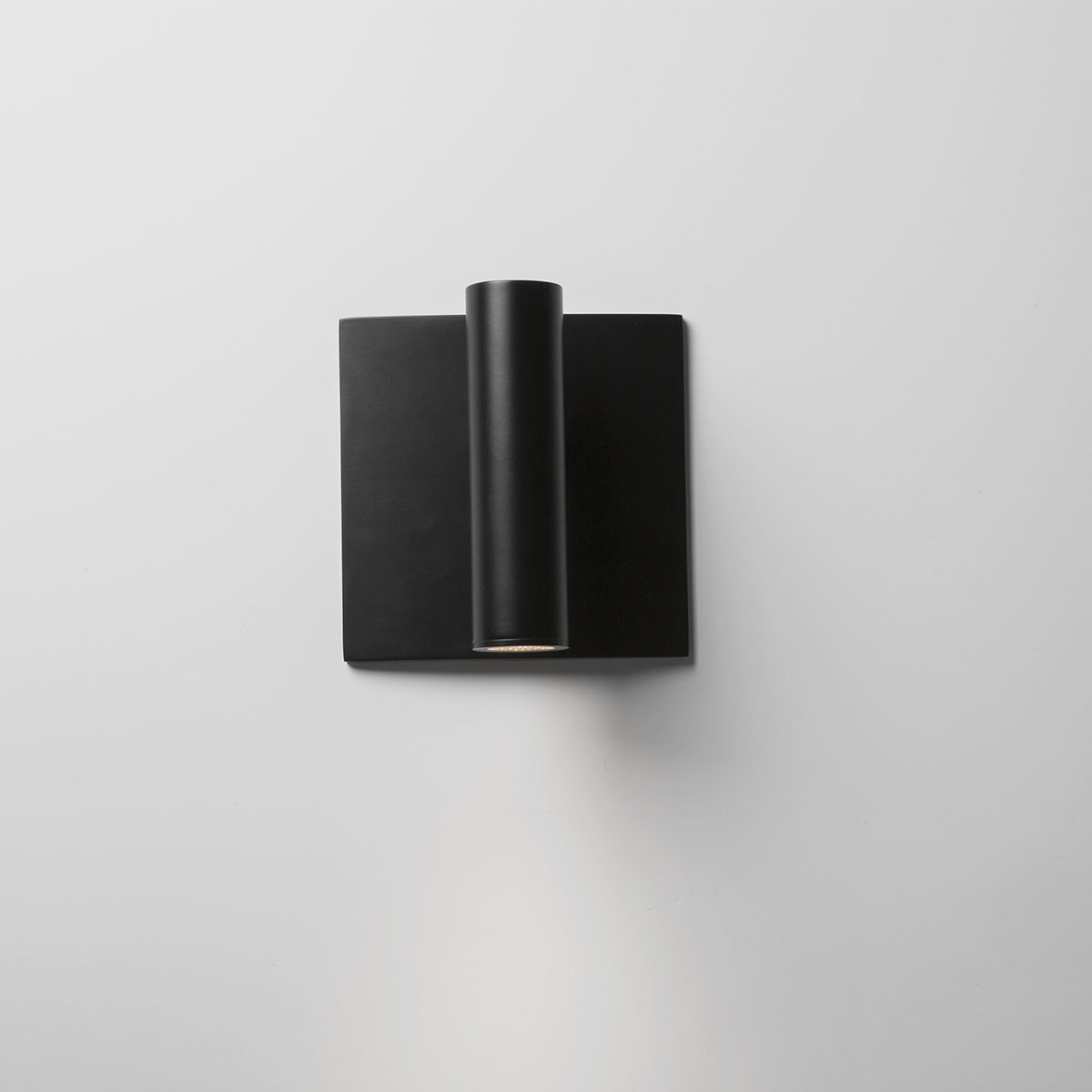 Black Square Wall Lights : Astro Enna Square Switched Black LED Wall Light at UK Electrical Supplies.