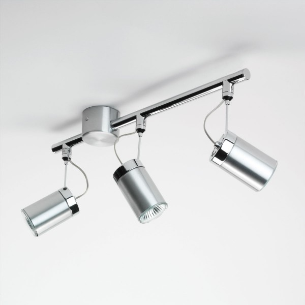 Astro Montana Triple Bar Brushed Aluminium Spotlight