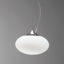 Astro Zeppo 300 White Glass Pendant Light