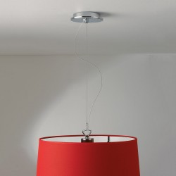 Astro Polished Chrome Pendant Light with Suspension Kit