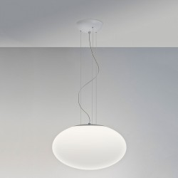 Astro Zeppo 400 White Glass Pendant Light