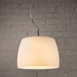 Astro Nimis 350 Polished Chrome and White Glass Pendant Light