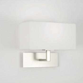 Astro Park Lane Matt Nickel Wall Light with White Shade
