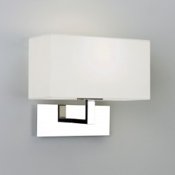 Astro Park Lane Polished Chrome Wall Light with White Shade
