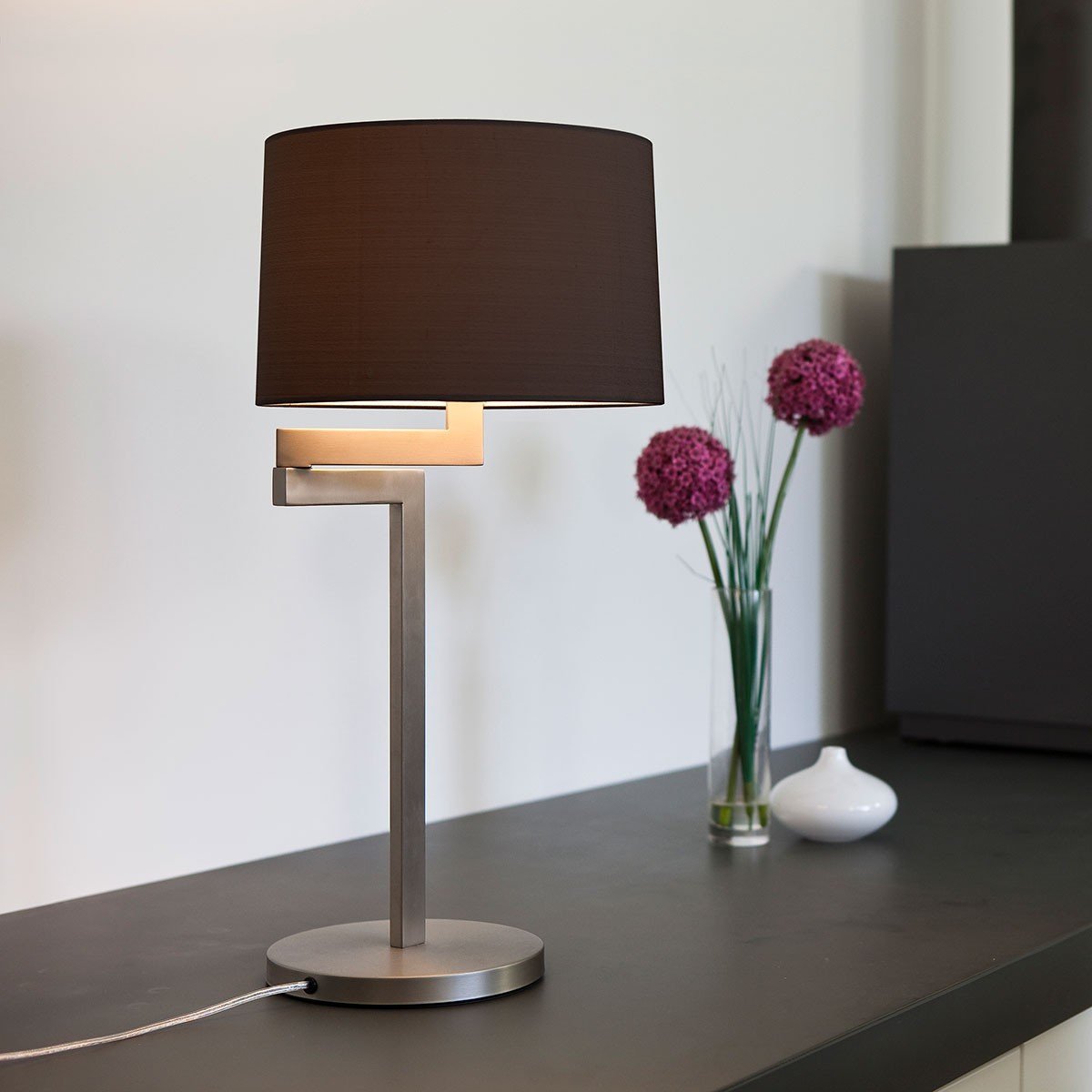 Astro momo table brushed stainless steel lamp at uk