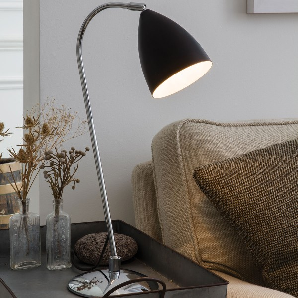 Astro Joel Black and Polished Chrome Table Lamp