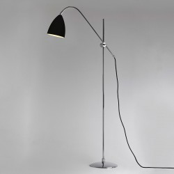 Astro Joel Black and Polished Chrome Floor Lamp