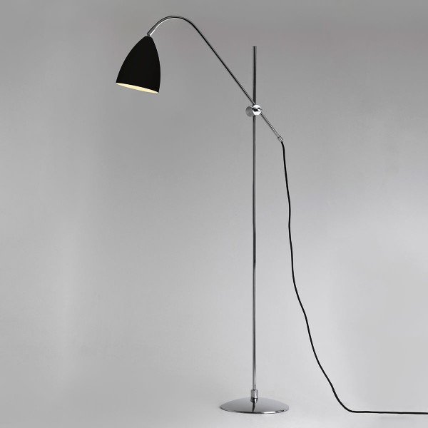 Astro Joel Black and Polished Chrome Floor Lamp