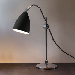 Astro Joel Grande Black and Polished Chrome Table Lamp