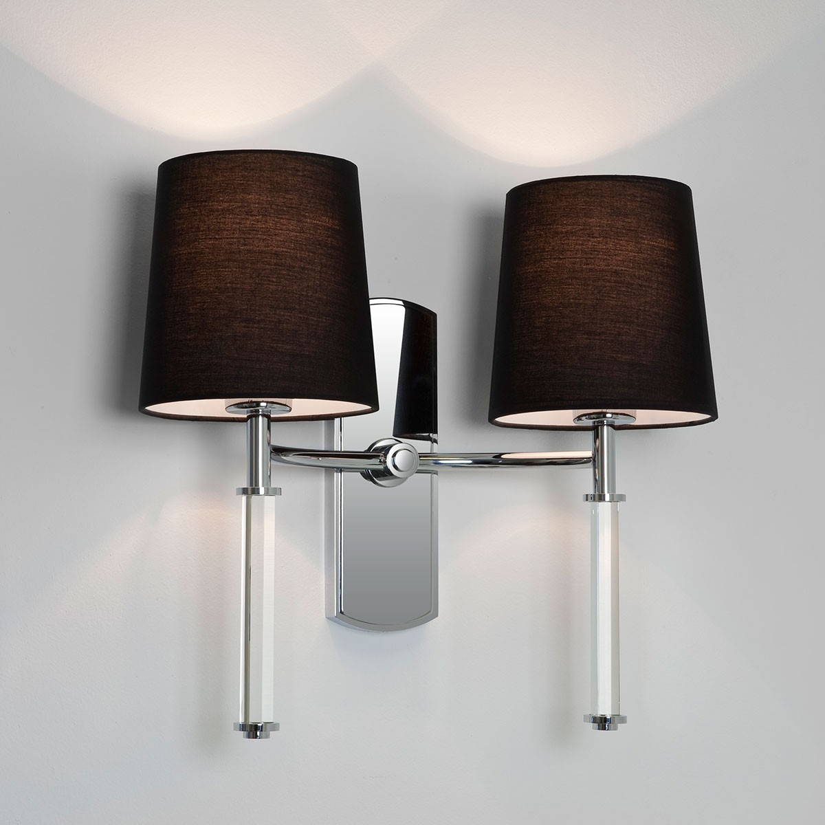 Astro Delphi Twin Polished Chrome Wall Light at UK Electrical Supplies.