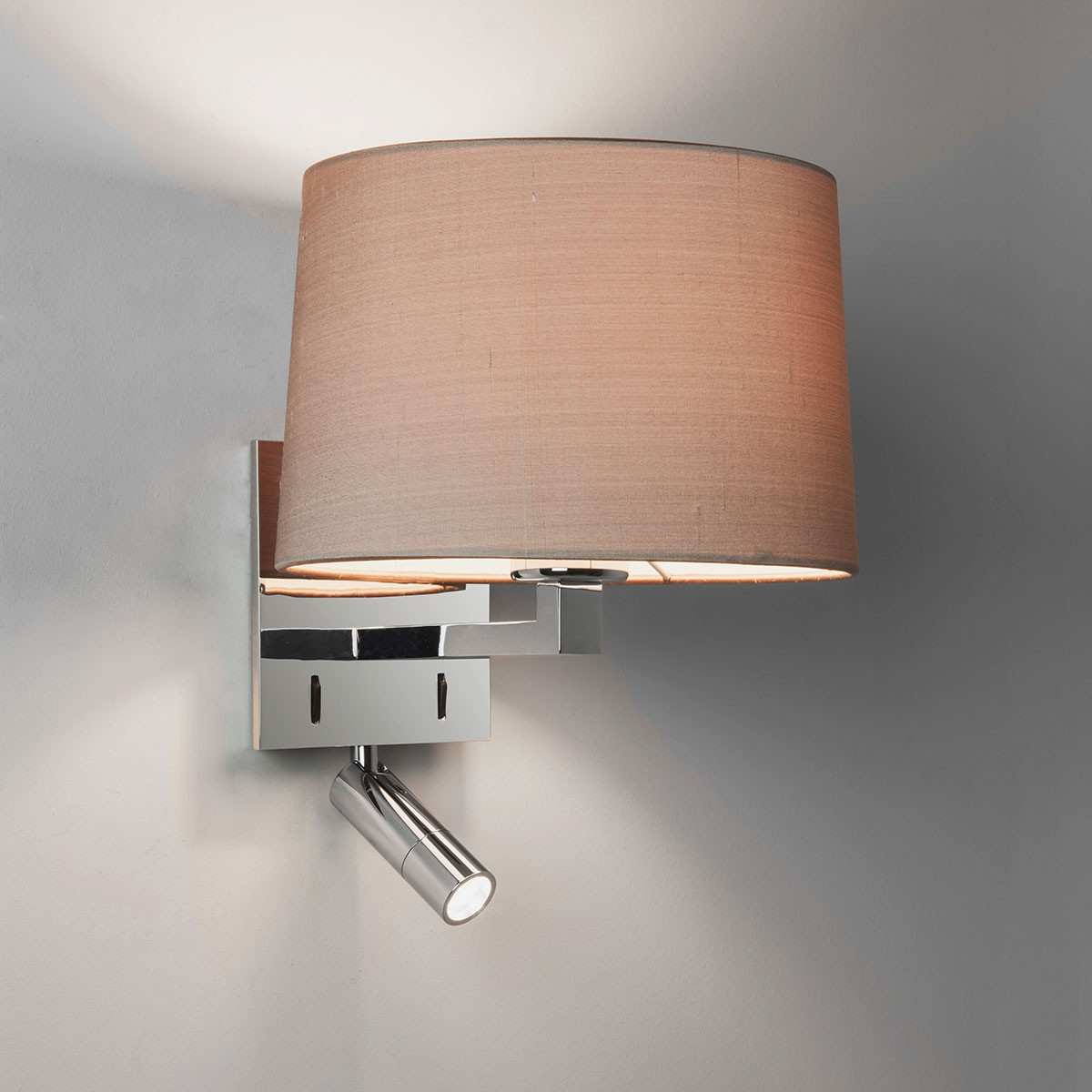 Astro Azumi Reader Polished Chrome Wall Light with LED Reading Light at UK Electrical Supplies.
