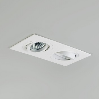 Astro Taro Twin GU10 White Adjustable Downlight