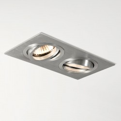 Astro Taro Twin GU10 Brushed Aluminium Adjustable Downlight