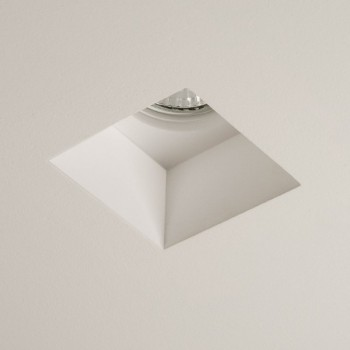 Astro Blanco Square GU10 Plaster Downlight