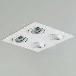 Astro Taro Quad GU10 White Adjustable Downlight