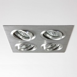 Astro Taro Quad GU10 Brushed Aluminium Adjustable Downlight