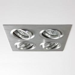 Astro Taro Quad Brushed Aluminium Adjustable Downlight