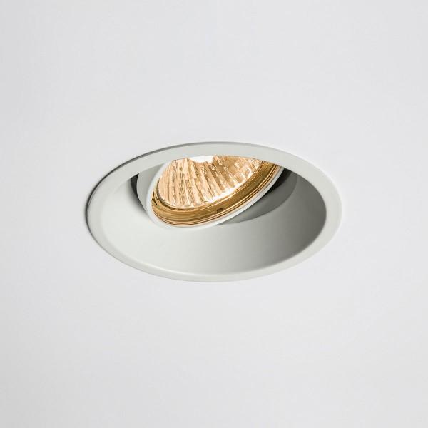 Astro Minima Round GU10 White Adjustable Downlight
