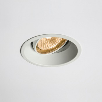 Astro Minima Round GU10 White Adjustable Downlight