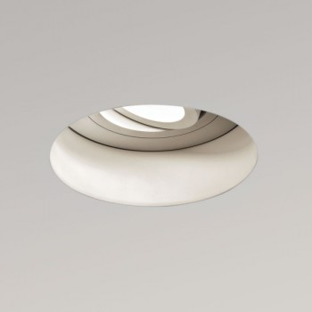 Astro Trimless Round GU10 White Adjustable Downlight