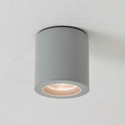 Astro Kos Round Painted Silver Bathroom Downlight