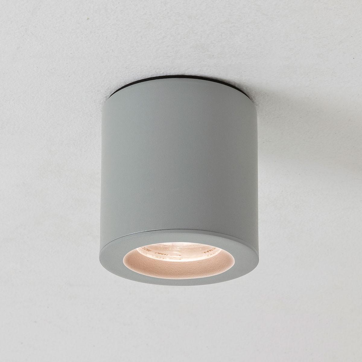 Bathroom Ceiling Lights Gu10 : Astro kos gu led cfl painted silver bathroom downlight at uk electrical supplies