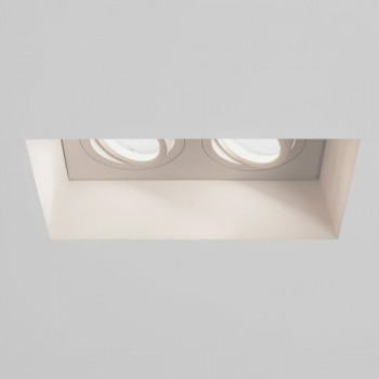 Astro Blanco Twin GU10 Plaster Adjustable Downlight