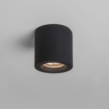 Astro Kos Round Textured Black Bathroom Downlight
