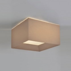 Astro Bevel Square 550 Oyster Fabric Shade