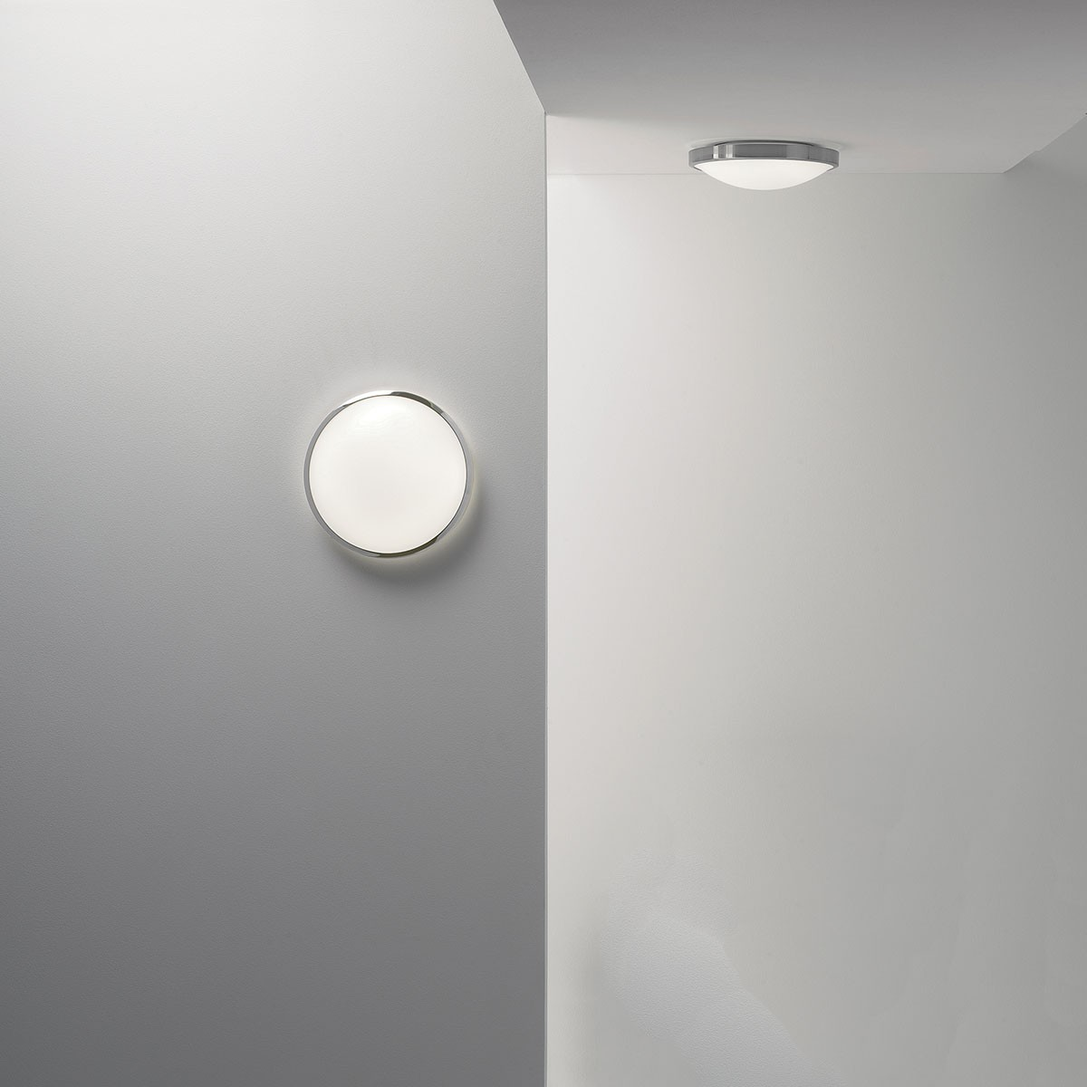 Led Ceiling Lights With Sensor: Astro Osaka Sensor Polished Chrome LED Ceiling Light With