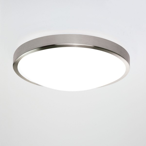 Led Ceiling Lights With Sensor: Astro Osaka Sensor Brushed Nickel LED Ceiling Light With Motion Sensor At UK Electrical Supplies