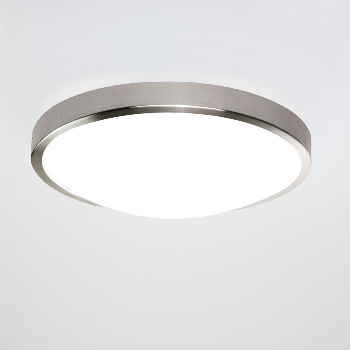 Led Ceiling Lights With Sensor: Astro Osaka Sensor Brushed Nickel LED Ceiling Light With
