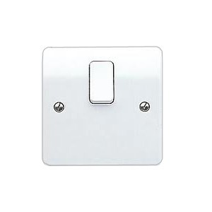 MK Electric Logic Plus™ White 20A 1 Gang Double Pole Switch with Flex Outlet