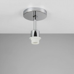 Astro Semi Flush Polished Chrome Ceiling Light